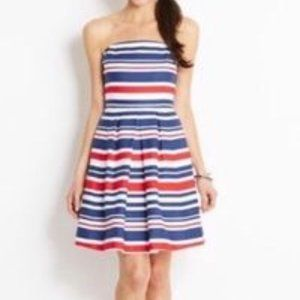 Vineyard Vines Linen Blend Red White Blue Dress